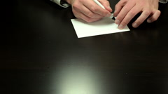 Hands write the message exactly Stock Footage