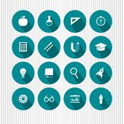 vector education and science icons - stock illustration