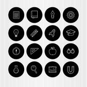 Vector education and science icons Stock Illustration