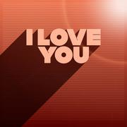 Vector i love you Stock Illustration