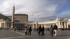 Vatican City - St. Peters Square Stock Footage