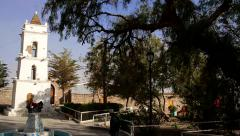 Stock Video Footage of Old Church at small village in South America.