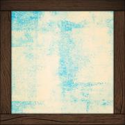 abstract wall background with wood frame - stock photo
