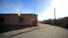 Small Village in the Desert - stock footage