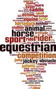 Equestrian word cloud Stock Illustration