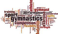 Stock Illustration of Gymnastics word cloud