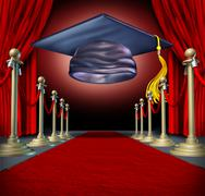 Graduation Ceremony - stock illustration