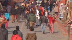 People at Kathmandu Durbar Square in Kathmandu, Nepal Stock Footage