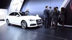 Audi A3 Berline sedan car - stock footage