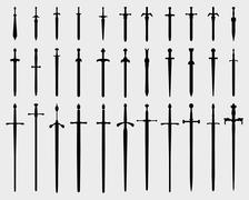 swords - stock illustration