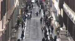 Italy - Rome - Via dei condotti Stock Footage