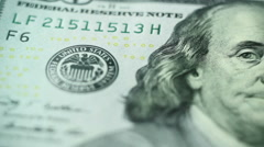 Macro shot united states dollars part 2 of 4 Stock Footage