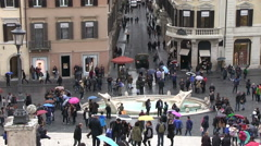 Italy - Rome - Spanish Steps Stock Footage