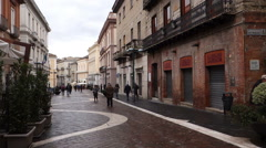 Italy - Campania - Streetlife in Benevento - stock footage