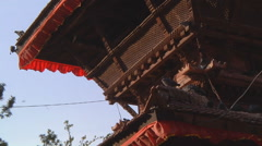 Pigeons at Kathmandu Durbar Square in Kathmandu, Nepal Stock Footage