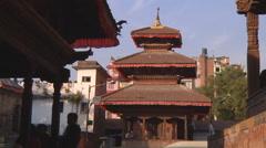 Kathmandu Durbar Square at Kathmandu in Nepal Stock Footage