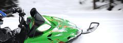 Stock Photo of snowmobile rider