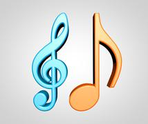 Music notes - stock illustration