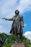 Famous Poet Alexander Pushkin Statue, Saint Petersburg - stock photo