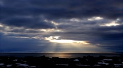 Magic sunset in Iceland (timelapse) Stock Footage