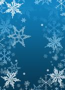 Christmas Holiday background paper-snowflakes - stock illustration
