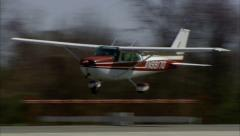 Cessna 172 Landing Stock Footage