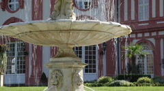 Fountains in the park Biebrich 1 Stock Footage