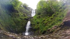 Llanrhaeadr Waterfall Stock Footage