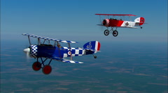 Culp Sopwith and Sopwith Pup Air to Air Break to Land Stock Footage