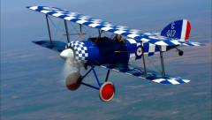 Culp Special Sopwith Air to Air Smoke Stock Footage