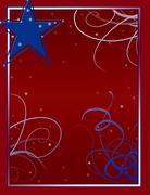 Stars and Stripes Forever background - stock illustration