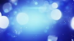 Blue shimmering light loopable techno background Stock Footage
