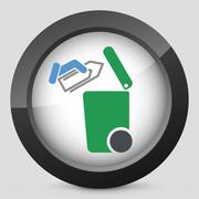 Separate waste collection icon Stock Illustration