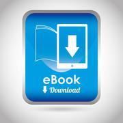 e-book concept design, vector illustration eps10 graphic - stock illustration