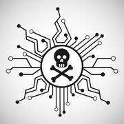 computer virus design, vector illustration eps10 graphic - stock illustration