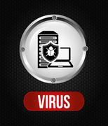 computer virus design, vector illustration eps10 graphic - stock illustration