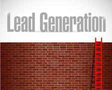 lead generation ladder concept illustration design - stock illustration