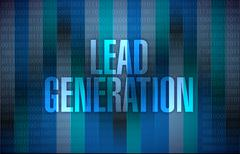 lead generation sign illustration design - stock illustration