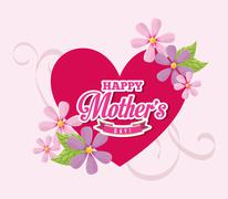 Stock Illustration of mothers day design, vector illustration eps10 graphic