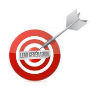lead generation target illustration design - stock illustration