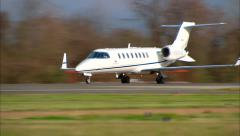 Learjet Inc 45 Take Off Stock Footage