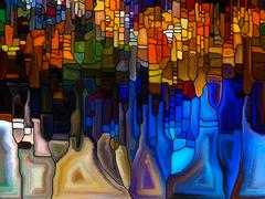 Digital Stained Glass Stock Illustration