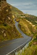 Road to beautiful andean city of Canar in Azogues Ecuador - stock photo