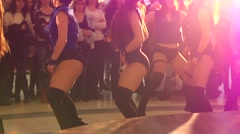 Young girls dance show Stock Footage