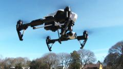 Quadcopter Drone Taking Off 2 Stock Footage