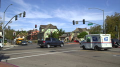 BUSY CROSSROADS - SMALL TOWN AMERICA Stock Footage