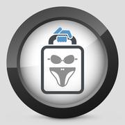 Lingerie icon - stock illustration