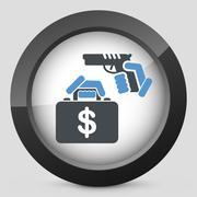 Case robbery - stock illustration