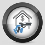 Raider icon - stock illustration