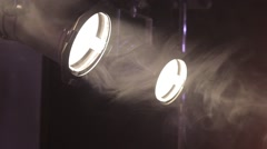 Two spot lights Stock Footage